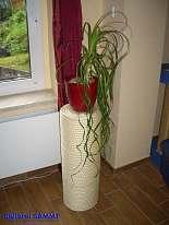 Blumen- und Pflanzensäule 62 cm mit Sisalseil