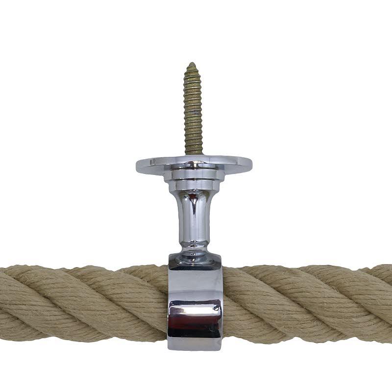Seilhalter 30mm Messing verchromt mit Stockschraube